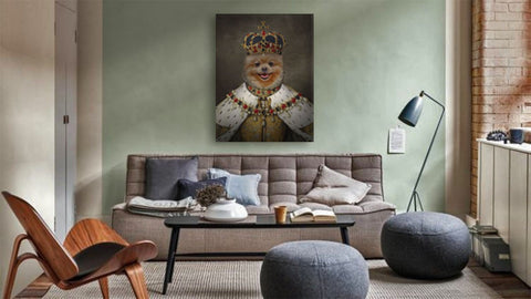 Image of custom pet portrait canvas