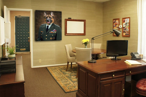 Image of Lieutenant wall art dog painting portrait