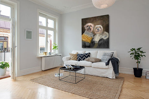 Lovers dog wall art painting