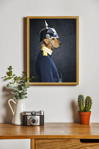 Image of dog canvas wall art