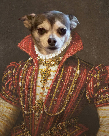 Image of Bavarian Pet-Princess // Custom Pet Portrait