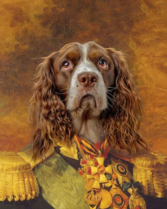 general dog painting