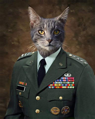 Image of Lieutenant Pet General // Custom Pet Portrait