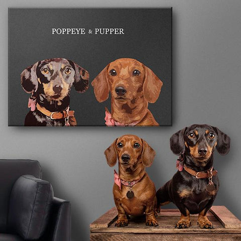 custom dog paintings on canvas