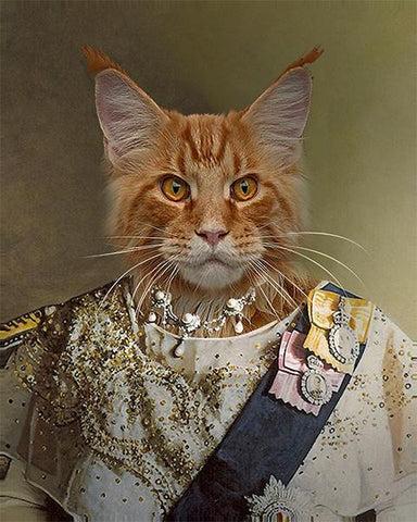 Image of queen cat painting portrait