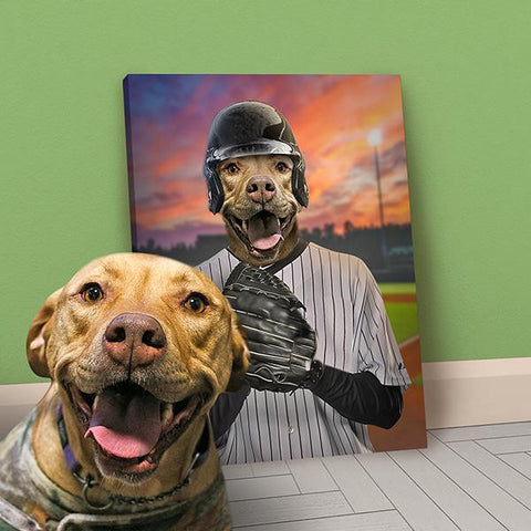 Image of Baseball Pet-Player // Custom Pet Portrait