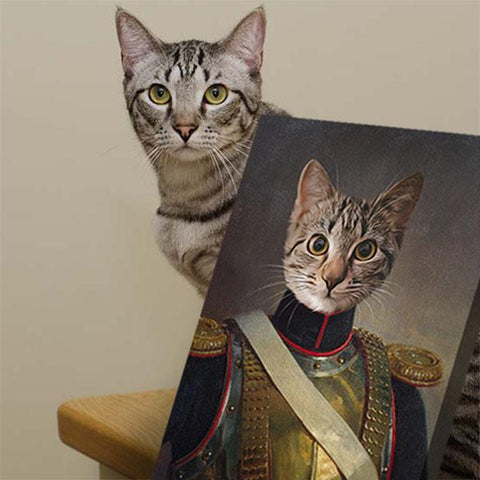 Image of Lord Benedict cat portrait painting canvas