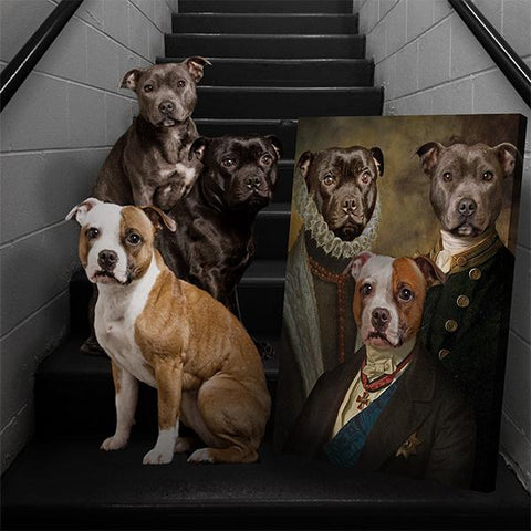 Image of custom dog paintings
