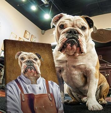 The Pet-Chef // Custom Pet Portrait