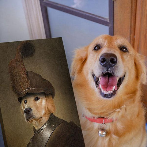 Image of dog portraits on canvas