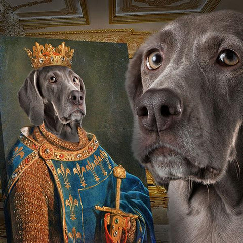 Image of King dog portrait print
