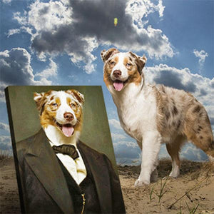 formal dog portrait
