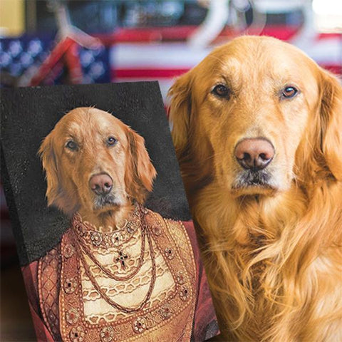 royal dog portrait