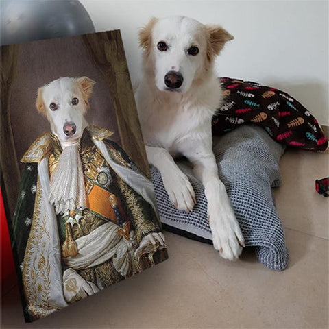 Image of Napoleon Bonaparte dog painting