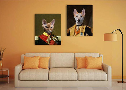 Image of Military pet wall portrait art