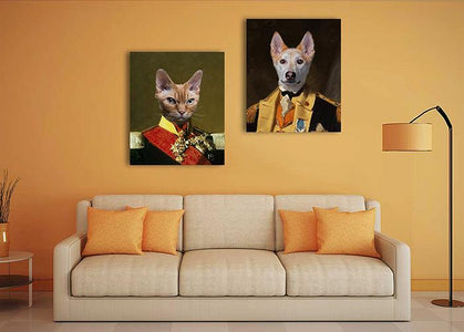 Military pet wall portrait art