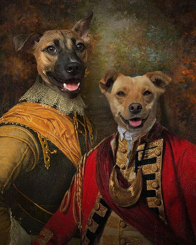 Image of Pet Brothers // Custom Pet Portrait