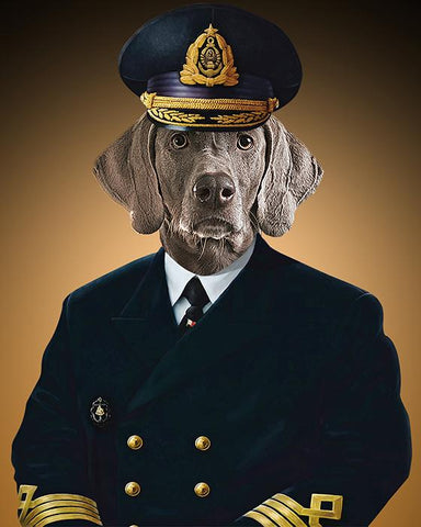 Image of Pilot-pet  // Custom Pet Portrait
