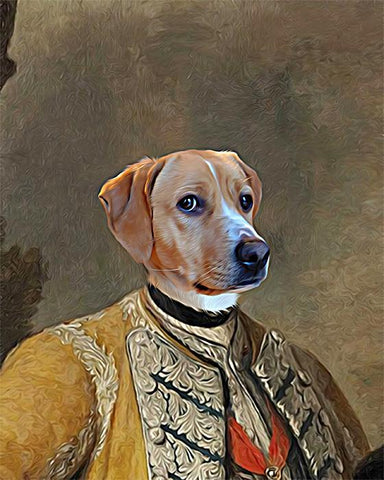 Image of augustus dog canvas art