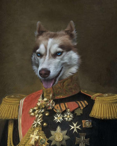 Image of Baron Van-Pet // Custom Pet Portrait