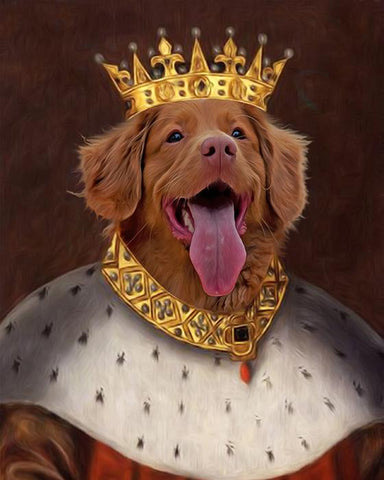 Image of king pet portrait dog canvas