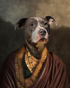 Indian Pet Princess // Custom Pet Portrait