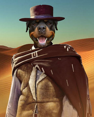 Image of Western Pet // Custom Pet Portrait - GetPetPortrait