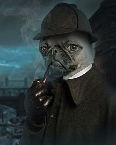 Sherlock-Pet // Custom Pet Portrait