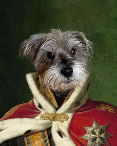 King William dog art print portrait
