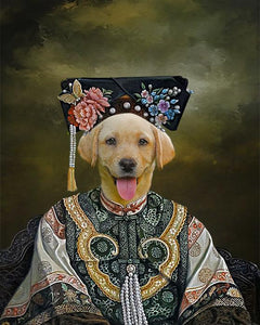 empress dog portrait