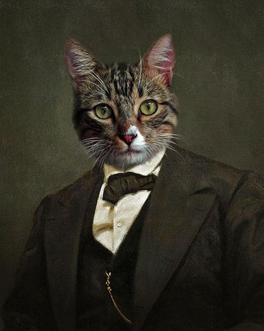 Image of amazing cat painting