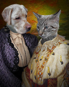 funny dog cat paintings
