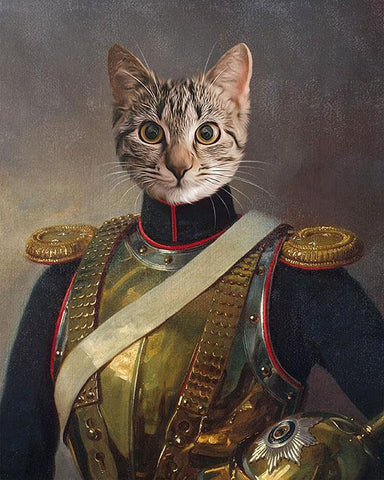 Image of Lord Benedict cat art canvas painting