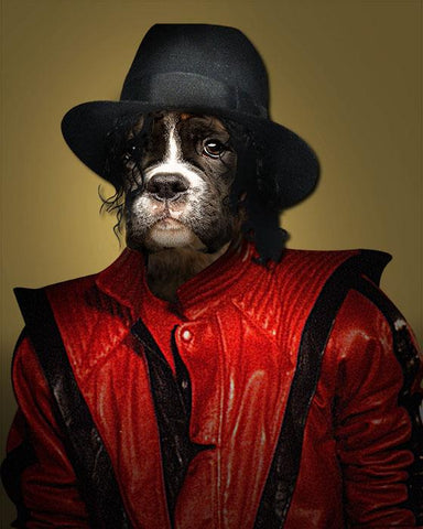 Image of King of Pop // Custom Pet Portrait