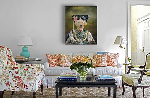 Image of empress dog wall art painting