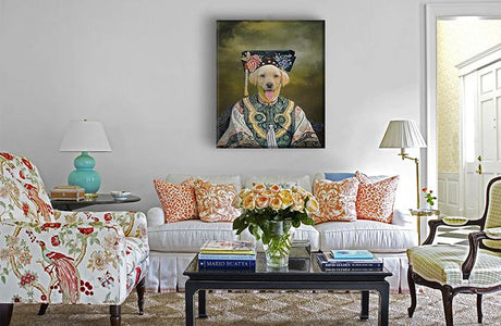 empress dog wall art painting