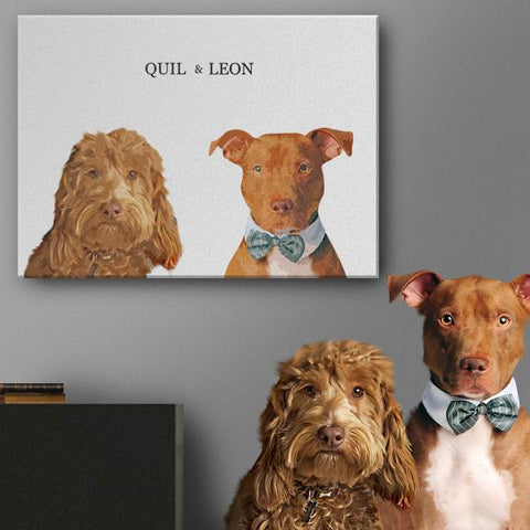 custom dog wall painting