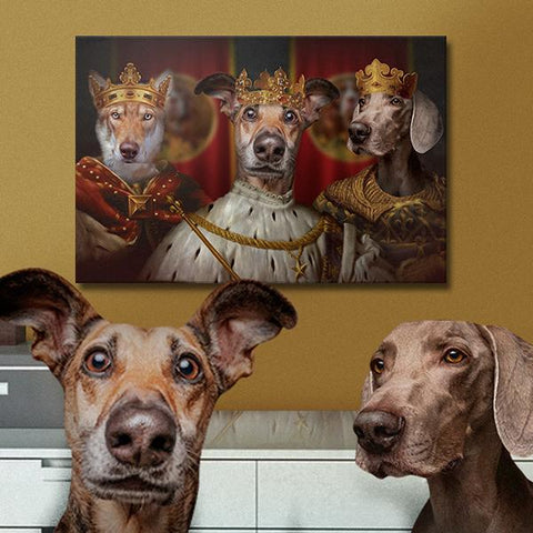 king pet portrait