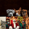 Santa-Pet and the Elves-Pet // Custom Pet Portrait