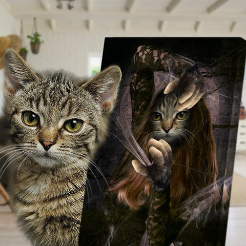 Image of amazing conjure cat painting