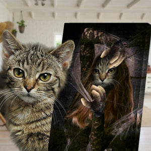 amazing conjure cat painting