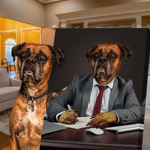 Image of business dog art portrait