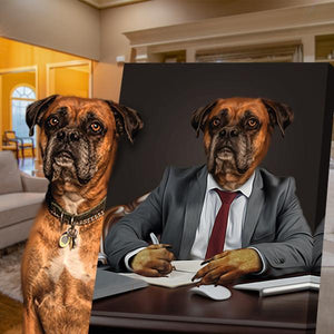 business dog art portrait