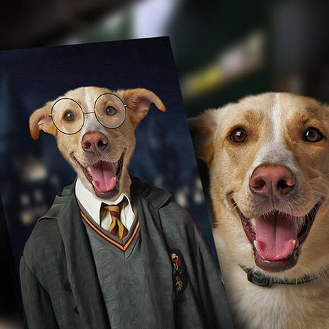 Image of harry potter dog painting