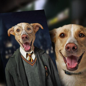 harry potter dog painting