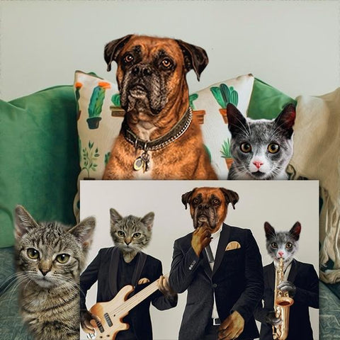 pet band portrait