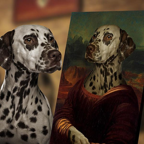 Image of Monalisa dog portrait print