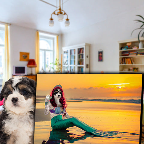 Image of Mermaid-Pet // Custom Pet Portrait