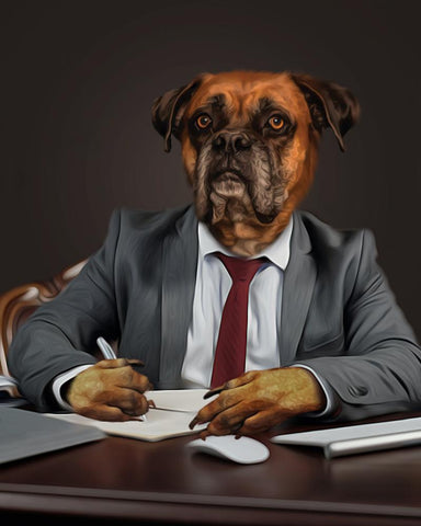 Image of business dog canvas art