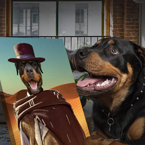 Image of Western Pet // Custom Pet Portrait